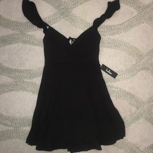 Black Lulus Ruffled Dress